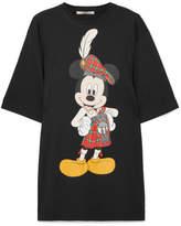 Christopher Kane Printed Cotton-jersey T-shirt - Black