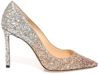 Jimmy Choo Romy Glitter Embellished Stiletto Pumps