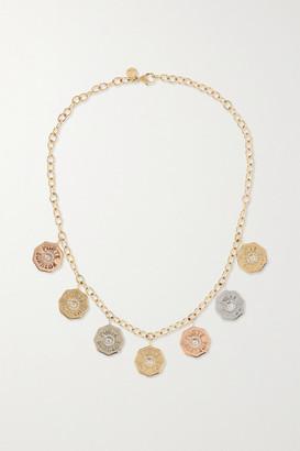 Marlo Laz Rhapsody 14-karat Yellow, Rose And White Gold Diamond Necklace - one size