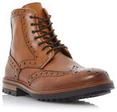 Bertie Tan 'cyrus' Leather Lace Up Brogue Boot