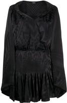 Balmain scarf-embellished mini dress