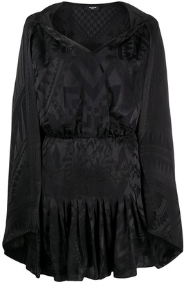 Balmain Scarf-Embellished Mini Dress