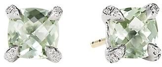 David Yurman Chatelaine Stud Earrings with Gemstone & Diamonds