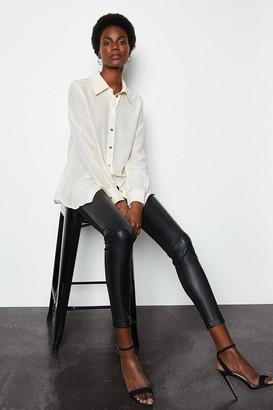 Karen Millen Faux Leather and Ponte Leggings