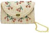 OHTOP Banana Cherry Straw Messenger Shoulder Crossbody Clutch Flap Chain Bag Beach