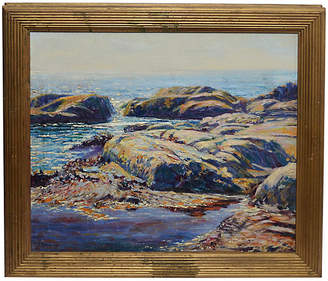 One Kings Lane Vintage Antique New England Coast - Curated Gallery Art