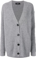 Rochas ribbed V-neck cardigan - women - Virgin Wool - 40