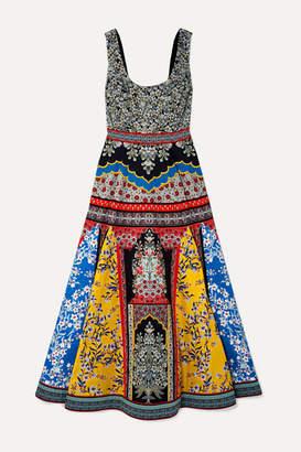 Alice + Olivia Arya Printed Cotton-blend Maxi Dress - Blue