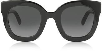 Gucci Black Oversized Acetate sunglasses w/Stars