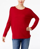 Eileen Fisher Crew-Neck Drop-Shoulder Sweater