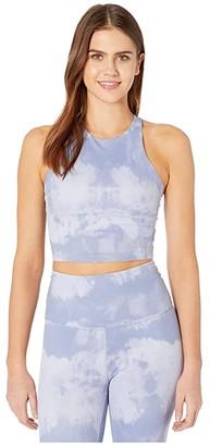 Beyond Yoga Back At You Cropped Tank (Serene Blue Smoke) Women's Clothing