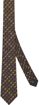 Fendi FF logo-jacquard silk tie