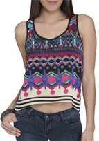 Wet Seal WetSeal Geo Back Detail Tank Multi Colored