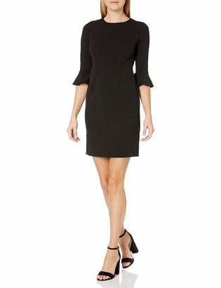 Donna Morgan Women's 3/4 Bell Sleeve Sheath Dress