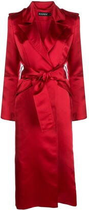 HANEY Laura silk trench coat