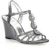 Adrianna Papell Kristen Jeweled Metallic Wedge Sandals