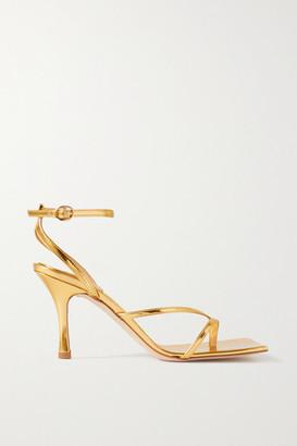 A.W.A.K.E. Mode Delta Metallic Leather Sandals - Gold