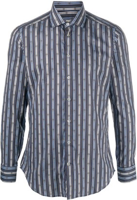Etro Striped Print Dress Shirt