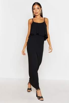 boohoo Rib Double Layer Strappy Maxi Dress
