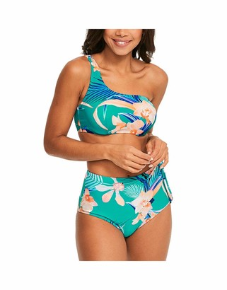 Figleaves Womens Oriental Jade Bikini Top Size 34FF in Jade Green