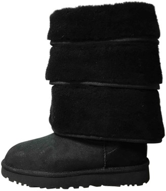 Y/Project Black Shearling Boots