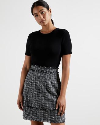 Ted Baker KLAUDID Boucle skirt mini mockable dress