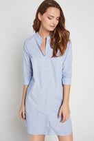 BCBGeneration Pinstriped Long-Sleeve Shirt Dress