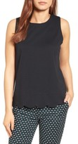 Petite Women's Halogen Scalloped Tank