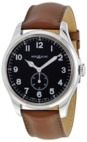 Montblanc 1858 Black Dial Stainless Steel Automatic Watch, 47mm