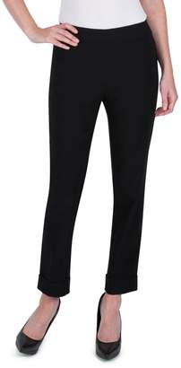 Haggar Petite Cuffed Ankle Pull-On Pants