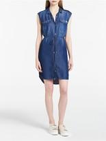 Calvin Klein Mid-Blue Denim Sleeveless Utility Dress