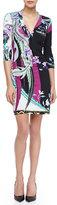 Roberto Cavalli Scilla-Print Twist-Front Jersey Dress