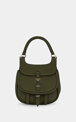 Fontana Milano Women's Chelsea Toy Leather Saddle Bag - Green
