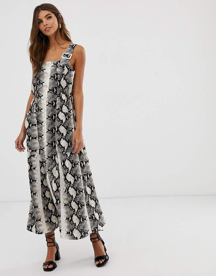 424fa406f83 Button Dungaree Dress - ShopStyle UK
