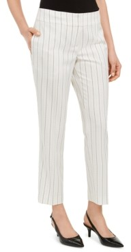 Kasper Pinstripe Slim-Ankle Dress Pants