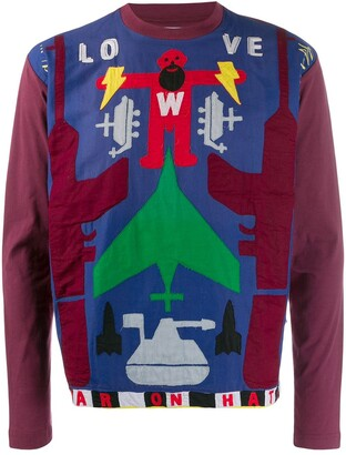 Walter Van Beirendonck Pre Owned 2010/11's Take A W-Ride longsleeved T-shirt