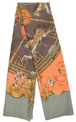 Hermes Luna Park Cashmere Silk Shawl