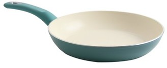 Gibson Home Gibson Town Market Square 12 Inch Non-Stick Enameled Aluminum Frying Pan with Soft Touch Handle in Sky Blue