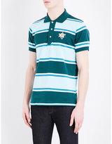 Bally Striped Cotton Polo Shirt