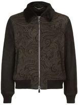Billionaire Paisley Print Shearling Jacket