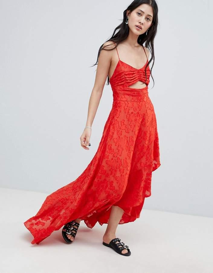 Free People Buona Serra Cut Out Maxi Dress