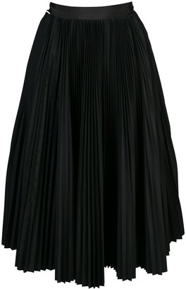 Sacai Pleated Asymmetric Skirt