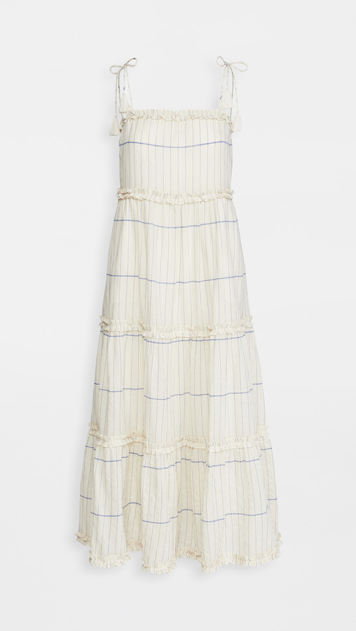 Tory Burch Long Ruffle Dress