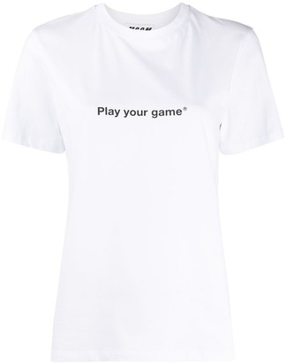 MSGM Play Your Game print T-shirt
