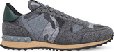 Valentino Camouflage felt trainers