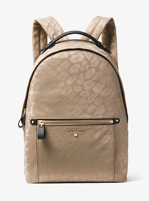 Michael Kors Kelsey Large Leopard Nylon Backpack