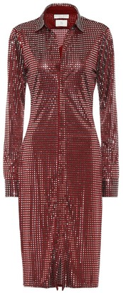 Bottega Veneta Embellished satin-jersey midi dress
