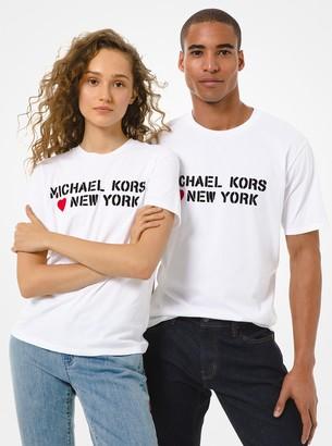 MICHAEL Michael Kors MK Loves New York Cotton Jersey Unisex T-Shirt