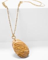 White House Black Market Jasper Long Pendant Necklace