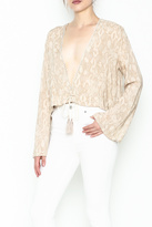 Olivaceous Python Plunge Top